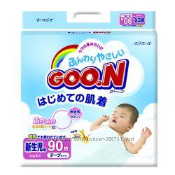 Японские подгузники GOON, для малышей с самых первых дней