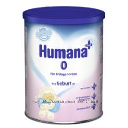 Молочная смесь Humana 0 mit LC PUFA Prebiotik Nukleotiden для недон. Хумана