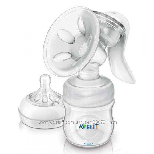 Молокоотсос Avent Comfort Natural ручной с бутылочкой 125мл Philips SCF330