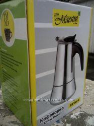 Гейзерная кофеварка Объем 600 мл