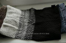 Отличные меланжевые шарфы-хомуты разных цветов