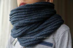 Красивые и теплые объёмные шарфы-хомуты