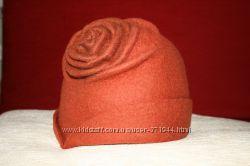 Эксклюзивная войлочная шляпка ручной работы. Валяние из шерсти Роза