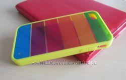 Оригинальный желтый силиконовый чехол Радуга для 4 iPhone.