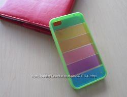 Оригинальный зеленый силиконовый чехол Радуга для 4 iPhone.