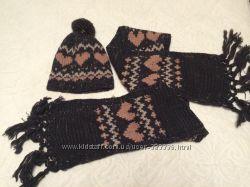 Комплект 2 шапки, шарф, навушники