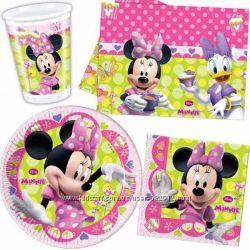 Наборы одноразовой посуды в стиле Минни Маус и Микки Маус