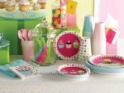 красочная одноразовая посуда для детского праздника из Германии