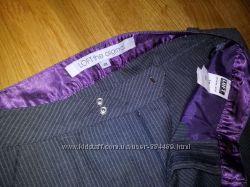 новые серые брюки Colins Loft в тонкую полосочку