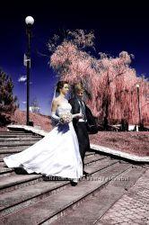 Красивое свадебное платье, индивидуальный пошив перчатки в подарок