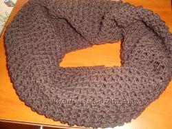 Снуд шарф вязаный любого цвета на весну, зиму, на один или два оборота