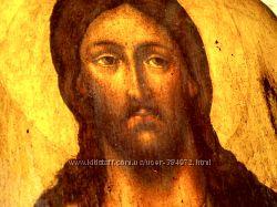 XVIIв икона Спас Вседержитель под старинуХристос СпасительДЕРЕВЯННЫЕ ИКО