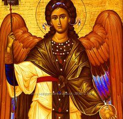 Икона Архангел Гавриил, под старину, деревянные именные иконы