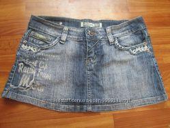 джинсовая мини-юбка размер 29