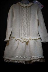 Стильные теплые платья для ваших крошек 12-18 м.