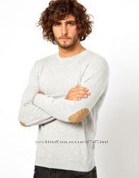 Англия Asos модный свитер заплатки 100  хлопок р. L, XXL
