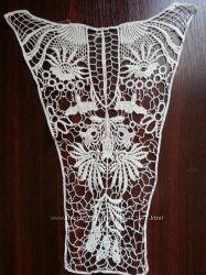 Накладные воротнички и вставки для платьев и блуз  из хлопковой нити