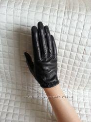 Перчатки кожаные короткие унисекс