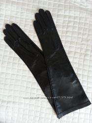 Перчатки женские кожаные по локоть