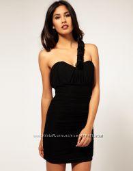 Rare London платье бюстье чёрное розы