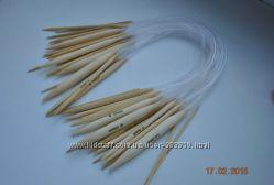 Спицы для вязания бамбуковые, металлические