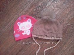 Демисезонные шапочки для девочки