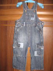 Комбинезон джинсовый Mothercare на 6-9 мес.