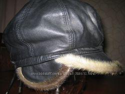 Кожаная шапка кепка