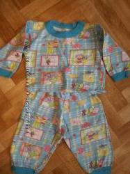 Продам пижамы с начесом в хорошем состоянии р. 86, 98, 104
