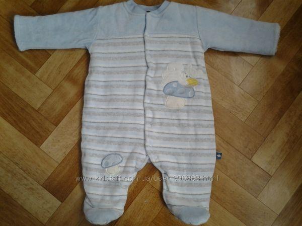 Продам велюровый комбинезончик flexi baby р.68 состояние отличное