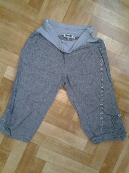 Продам легкие льняные штанишки exclusive р. 40 S, M в хорошем состоянии