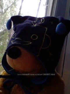 Продам флисовую двойную шапку Coolclub р. 44 в хорошем состоянии