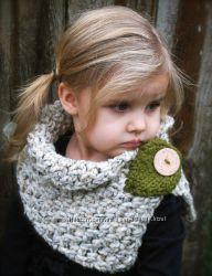 Стильные вязаные шарфы для детей
