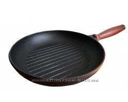 Сковорода-гриль чугунная Берлика 260х40 мм