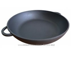 Сковорода чугунная Берлика 280х60 мм с ушками