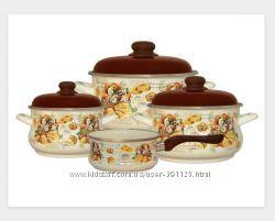 Набор посуды эмаль METROT Сластена 2456