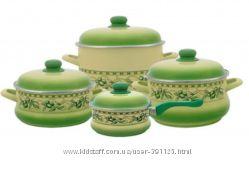 Набор посуды эмаль METROT Оливки 1025045