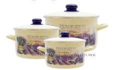 Набор посуды эмаль METROT Лаванда 2405