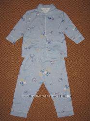 Пижамка тепленькая хлопок на 3-4 года