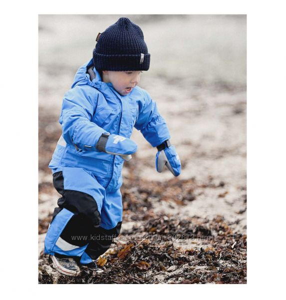 Didriksons romme kids coverall indigo blue