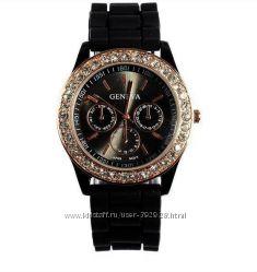 Женские наручные часы Geneva на силиконовом ремешке МНОГО ЦВЕТОВ