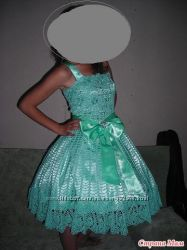 Эксклюзивные платья для выпускного вечера вязаные по индивидуальному заказу