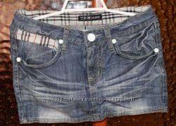 Юбку джинсовую на худенькую девушку