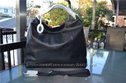 Сумка Furla Elizabeth black leather side zipper, оригинал
