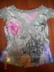 Новая брендовая шелковая блузка футболка MOSCHINO