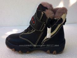 Зимние кожаные ботинки Натуральная кожа и мех.
