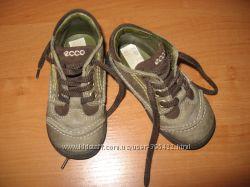 Кожаные деми ботиночки ECCO, 21р, 14см состояние новых