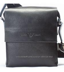 Мужская кожаная сумка ARMANI. Натуральная кожа.