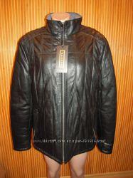 Куртка демисезонная кожаная мужская двухстороняя