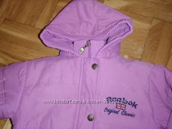 Продам осеннюю, фирменную  курточку Reebok на девочку 104-110см